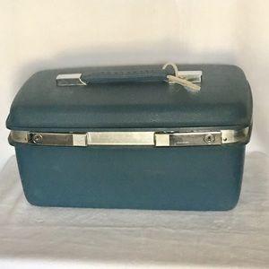 Vintage Blue Samsonite Travel Train Case